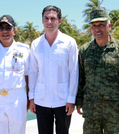Participa Remberto Estrada en reunión sobre seguridad en la V Región Naval de Isla Mujeres