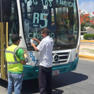 Aplica comuna sanción a transportistas que aumentaron tarifa anticipadamente en Cancún
