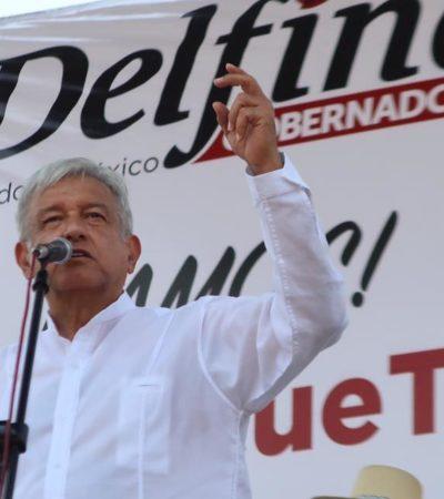 RECLAMA AMLO VOTO POR VOTO EN EL EDOMEX: Exige el líder de Morena que EPN deje de operar desde Los Pinos
