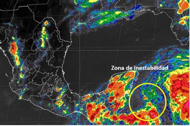Monitorean zona de inestabilidad con probabilidad de desarrollo ciclónico en el occidente del Mar Caribe