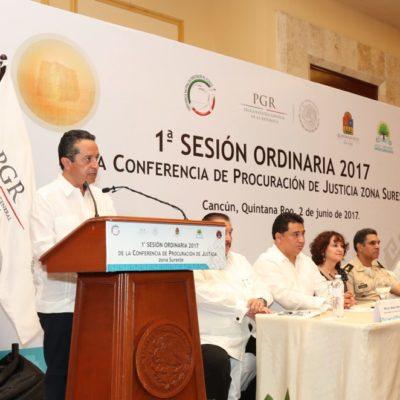 """""""JUSTICIA, EL CAMINO PARA RECUPERAR LA CONFIANZA DE LA GENTE"""": Carlos Joaquín inaugura en Cancún Conferencia de Procuradores"""