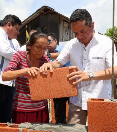 CONSTRUYEN PRIMERAS 800 VIVIENDAS RURALES: Entrega Carlos Joaquín paquete de 500 certificados a beneficiarios de 35 comunidades de OPB