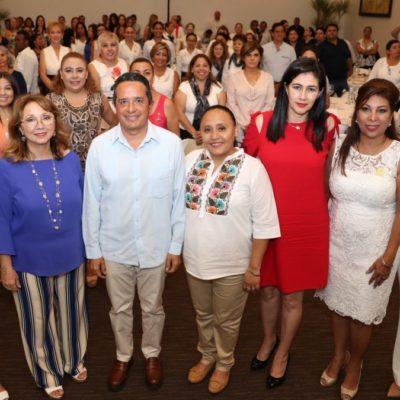 Instala Carlos Joaquín mesas de trabajo de Equidad de Género en Materia de Niñas, Niños y Adolescentes en Playa del Carmen.