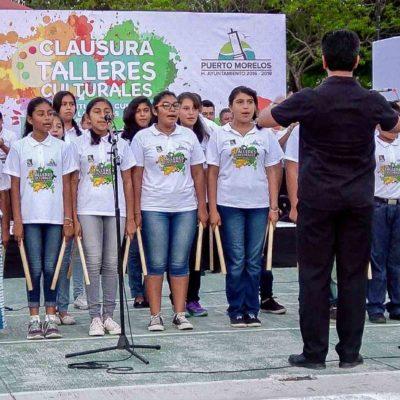 Concluye programa de Talleres Culturales para impulsar formación de niños en Puerto Morelos