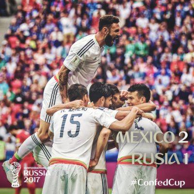 México echa a los anfitriones y avanza a semifinales de la Copa Confederaciones en Rusia