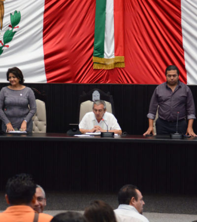 Recibe Congreso iniciativa para hacer de Quintana Roo un estado competitivo