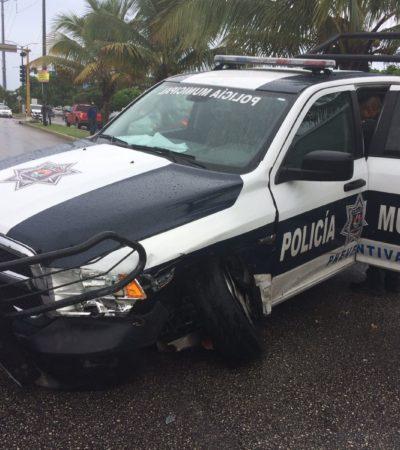 PROVOCA PATRULLA CARAMBOLA: Al menos 3 heridos por choque en la avenida Kohunlich de Cancún