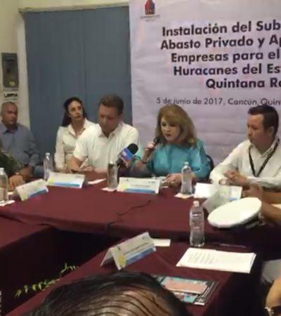 Instalan subcomité de abasto por huracanes en Cancún