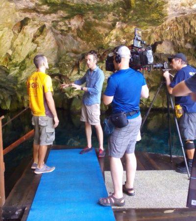 Graban programa para Nat Geo en Quintana Roo