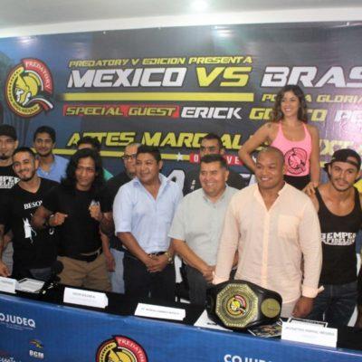 El próximo sábado 15 de julio se presentará en Cancún la gala de las Artes Marciales Mixtas