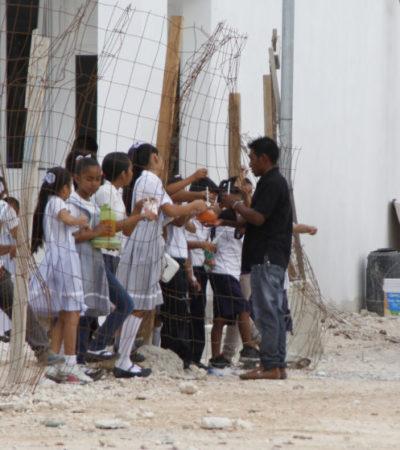 VIDEO | ESCUELAS DE LA PRECARIEDAD: Planteles siguen a medio construir a semanas del fin del ciclo escolar en Cancún