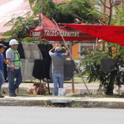 La Chac Mool, otra de las avenidas de Cancún convertida en 'zona comercial' del ambulantaje
