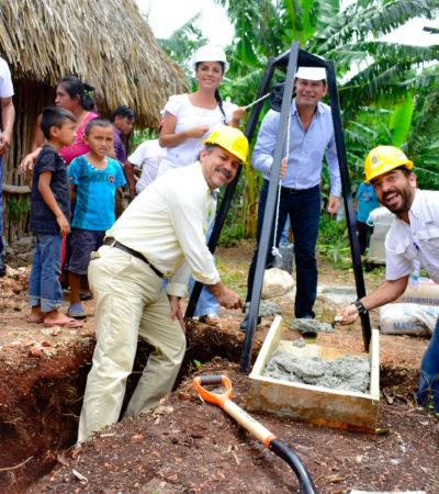 Con inversión de 12.4 mdp, inician construcción de sistema de saneamiento para 860 habitantes de San Isidro la  Laguna de Bacalar