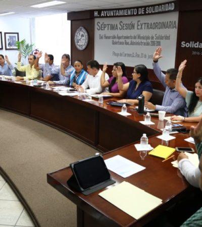 Autoriza Cabildo a Alcaldesa y a Tesorero firmar convenio sólo para reducir la tasa de interés de la deuda pública de Solidaridad