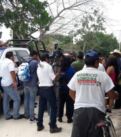PRELIMINAR   FRENAN INVASIÓN EN CANCÚN: Interviene la policía en disputa de predios en la colonia Maracuyá