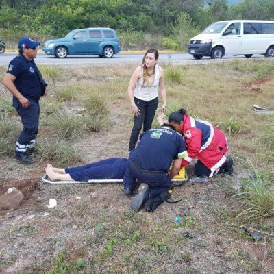 Aparatoso accidente deja 5 colombianos heridos en Playa del Carmen