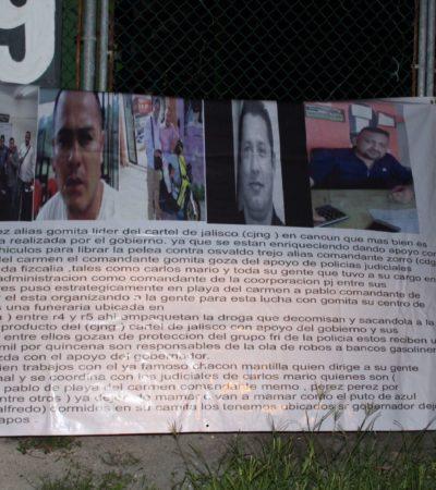 APARECEN NARCOMANTAS EN CANCÚN: Aluden al ataque a funeraria y acusan a policías y gobierno de ayudar al CJNG