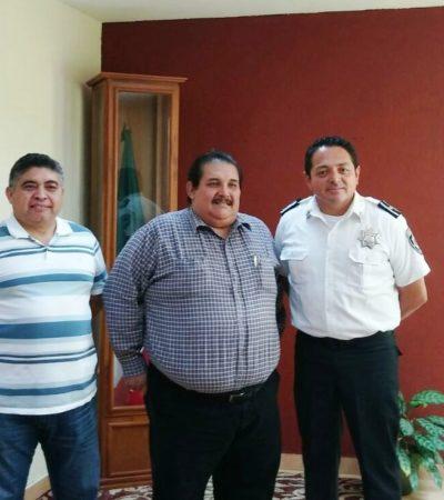 """""""ENCUENTRO CORDIAL"""": En su primer día como jefe policiaco de Cancún, Darwin Puc se reúne con el Fiscal Pech Cen"""