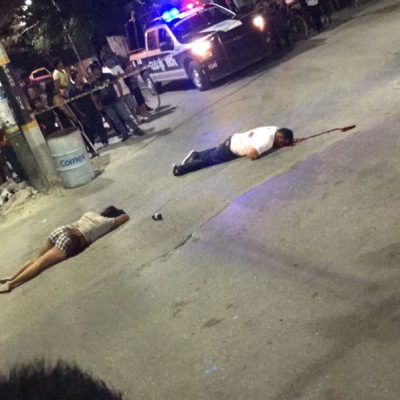 BALEAN A DOS EN TULUM: Ejecutan a un hombre y una mujer queda herida en un ataque ocurrido a una cuadra del Ayuntamiento