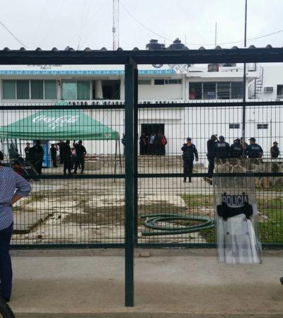 MADRUGA CHETUMAL CON MOTÍN EN EL CERESO: Tensa calma tras disturbios en la cárcel con saldo de un reo con quemaduras