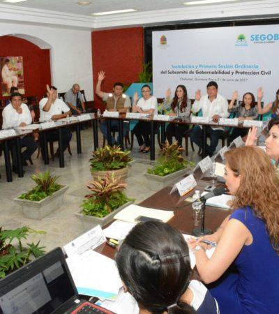 Instalan en Chetumal Subcomité de Gobernabilidad y Protección Civil para coordinarse ante contingencias