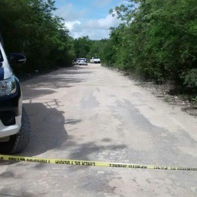 Hallan a ejecutado en la Ruta de los Cenotes de Puerto Morelos