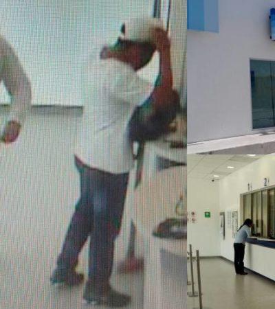 ASALTAN BANCO EN PUERTO MORELOS: Hombres armados se llevan botín de alrededor de $300 mil en efectivo