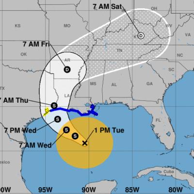 SEGUIRÁN LLUVIAS EN QR POR TORMENTA 'CINDY': Nace ciclón en el Golfo de México, pero se aleja de costas de la península de Yucatán