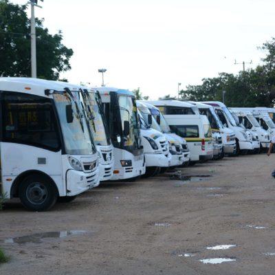 PARO DE LABORES EN MAYA CARIBE: Transportistas protestan contra aumento arbitrario de la liquidación que pagan a dueños de unidades