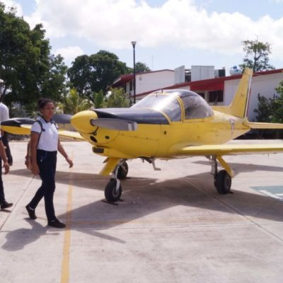 Conalep Quintana Roo recibe aeronave de la FAM | Por Raúl Caraveo Toledo