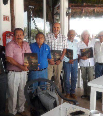 PUERTO MORELOS, SEDE DE REUNIÓN DE CRONISTAS: Historiadores de Cozumel, Cancún, Isla Mujeres, Lázaro Cárdenas, Playa del Carmen y Puerto Morelos, realizan reunión de trabajo para reactivar su asociación