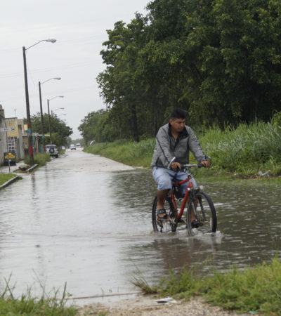 Calles encharcadas, algunas inundadas, clases suspendidas y otras afectaciones, el saldo de las lluvias en Cancún