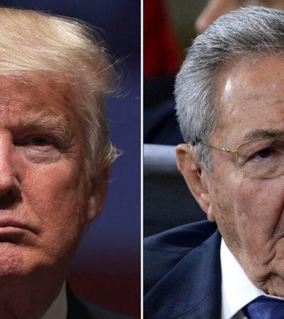 """Entierra Trump política de apertura hacia Cuba; """"estrategia injerencista está condenada al fracaso"""", le responden"""