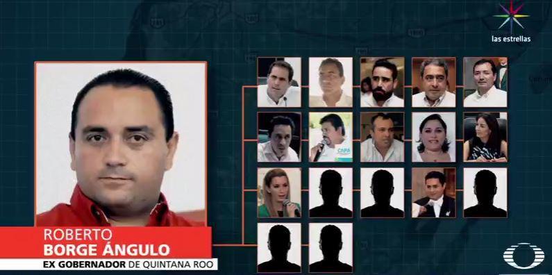 DA EL JOAQUINISMO 'GOLPE MEDIÁTICO': Filtra Fiscalía a Televisa lista de 17 personajes del primer círculo de Borge implicados en presuntas irregularidades