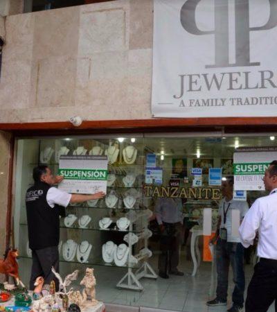 Suspende Profeco joyerías en Cancún, Cozumel y Playa por vender materiales falsos