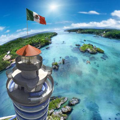 Invierten 43 mdp para construir el Faro Mirador, nuevo atractivo del parque Xel-Há