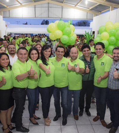 Rompeolas: Muy 'cerquititas', Ayuntamiento y el PVEM en Puerto Morelos