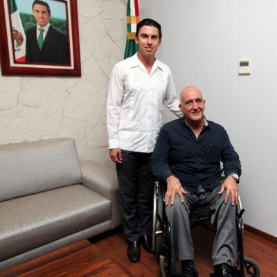 Se reúne Remberto Estrada con representante de la Secretaría de Gobernación en Quintana Roo