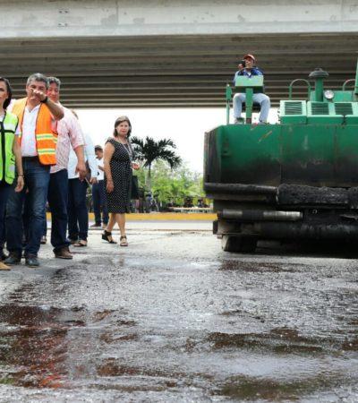 Inician repavimentación de la  calle Chacá, en la colonia Zetina Gasca de Puerto Morelos