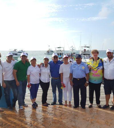 Realizan primer torneo internacional de pesca deportiva femenil en Puerto Morelos