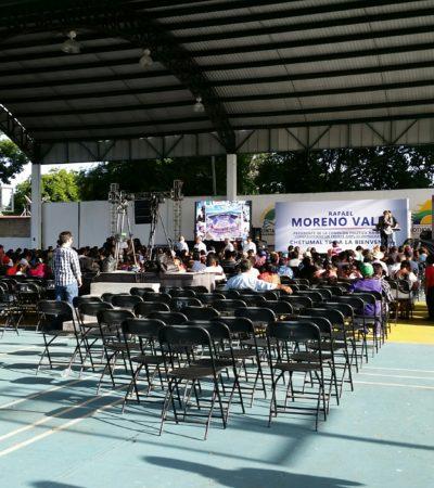 VISITA MORENO VALLE CHETUMAL: Ex Gobernador poblano 'en campaña' se enoja al ser cuestionado