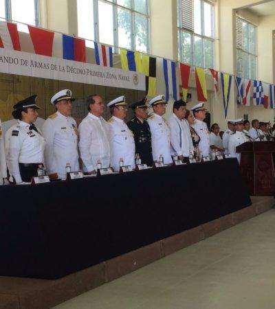 RELEVO EN LA XI ZONA NAVAL MILITAR: El vicealmirante Monforte Brito pasa a retiro; lo sustituye Eduviges Martínez Sandoval