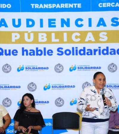Realiza Cristina Torres audiencia pública en la colonia Zacil Ha
