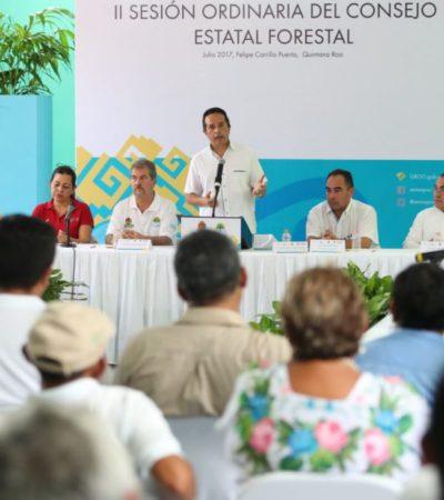 Encabeza Gobernador Sesión Ordinaria del Consejo Forestal de Quintana Roo,