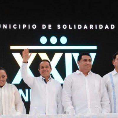"""""""Quintana Roo es inquebrantable"""", dice Carlos Joaquín al celebrar el 24 aniversario de Solidaridad"""