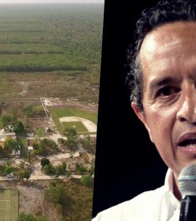 """""""Queremos recuperar el monto o la tierra que le pertenece al Gobierno"""", asegura Carlos Joaquín, tras la devolución de terrenos que hizo Fidel Villanueva Rivero"""