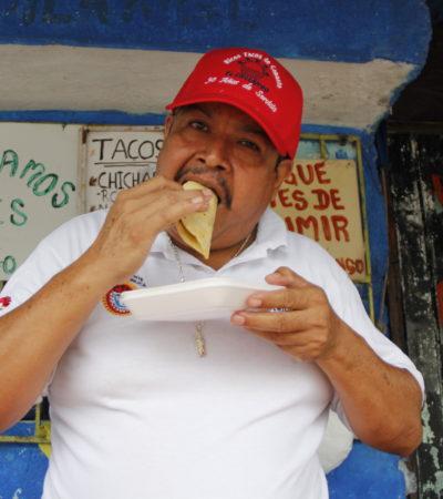 LOS DE CANASTA SON LOS DE 'EL CHILANGO': Con el sabor de la Ciudad de México, vende tacos desde hace 32 años en Cancún
