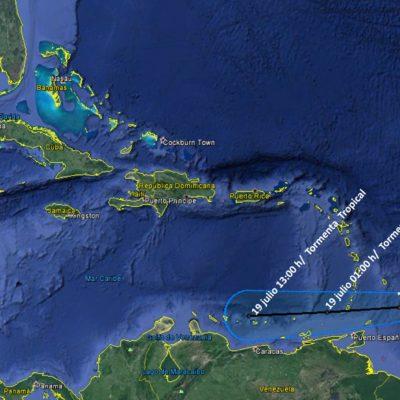 SE FORMA LA TORMENTA TROPICAL 'DON': Muy lejos de las costas de QR, el meteoro avanza en dirección hacia el Caribe