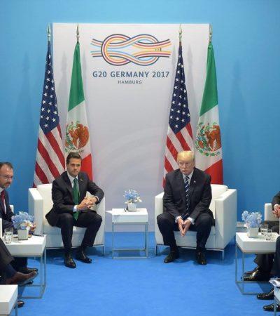 """""""YO ESTABA AHÍ Y NO LO OÍ"""": Dice Videgaray que no escuchó el 'absolutamente' de Trump"""