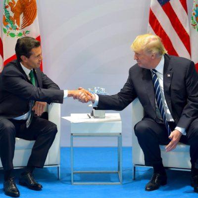 PEÑA Y TRUMP SE VEN LA CARA: Frente al mexicano, el estadounidense responde con un 'absolutamente' sobre sí aún quiere que México pague el muro